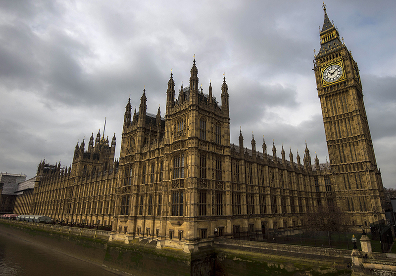General view of the Palace of Westminster, with the great Westminster clock, more commonly known as ,Big Ben, seen on April 5, 2015. (FILE Photo)