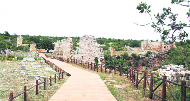 Nearly 1 kilometer of walkways and tracks along with centers for visitors were built in Kanlıdivane. Roads with handicap access for people with disabilities were also established.