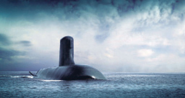 A handout picture made available by the DCNS Group a the French industrial group specialized in naval defense shows French submarine Shortfin Barracuda designed by the DCNS group.