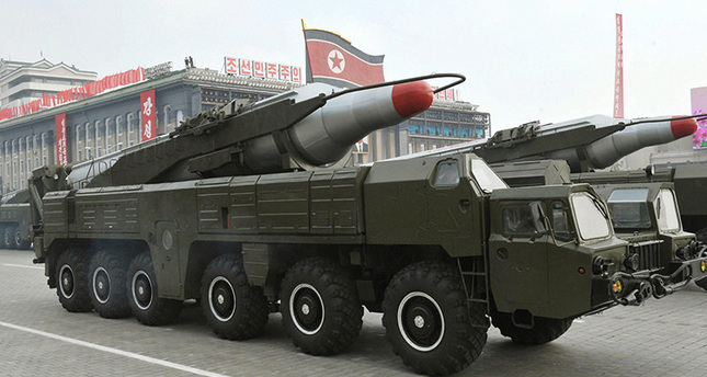 A file photo dated October 2010 and made available by the North Korean Central News Agency (KCNA) shows a 'Musudan' missile displayed during a military parade marking the 65th anniversary of the foundation of the Workers' Party of Korea (EPA Photo)