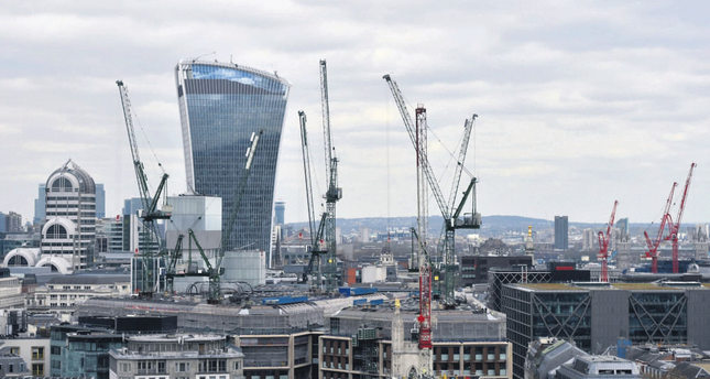 A view of construction in the financial district of the City of London. Debate continues in British media on the potential economic consequences the U.K, will face if the so-called Brexit goes ahead.
