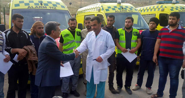 Turkish charity sends ambulances to opposition-held areas in Syria