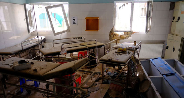 Hospital beds lay in the Medecins Sans Frontieres hospital in Kunduz, Afghanistan on April 26, 2016. (Reuters Photo)