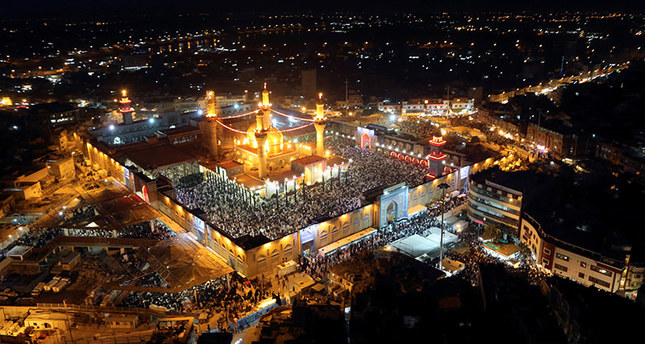 An aerial view of the Muslim Shiite shrine of Imam Moussa al-Kadhim in Baghdad, Iraq May 24, 2014. (Reuters Photo)