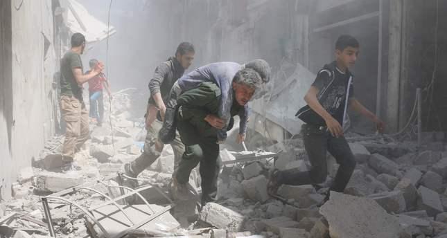 Aleppo on fire as Assad airstrikes pound city for 9 straight days