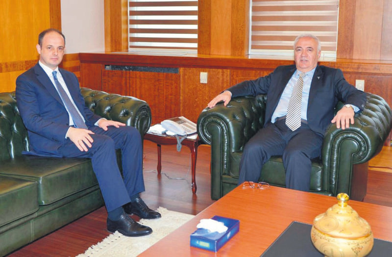 Central Bank of the Republic of Turkey (CBRT) Governor u00c7etinkaya (L) and Economy Minister Elitau015f met yesterday to share ideas about the proposed interest rate cut.