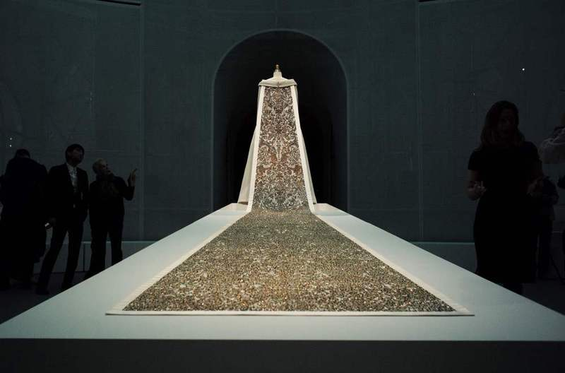 A wedding ensemble by Karl Lagerfeld for House of Chanel