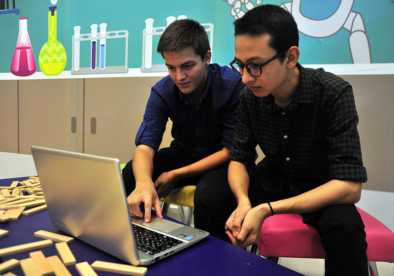 18-year-old Sertan Helvacu0131 (L) is the creator of 'Events Here'. (AA Photo)