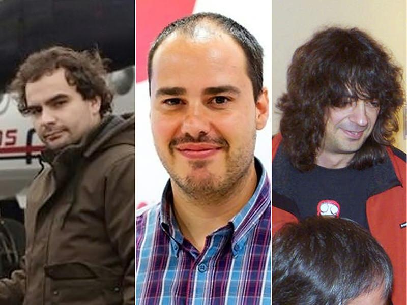 The photo shows (L to R) Spanish freelance journalist Angel Sastre, Spanish freelance journalist Antonio Pampliega and Spanish freelance journalist Jose Manuel Lopez. (AFP Photo)
