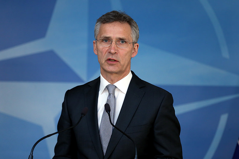 NATO Secretary-General Jens Stoltenberg said that NATO ,stands in solidarity with Turkey, in the face of such attacks. (AA Photo)