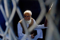 This file photograph taken on October 29, 2014, shows Bangladeshi Jamaat-e-Islami party leader Motiur Rahman Nizami (AFP Photo)
