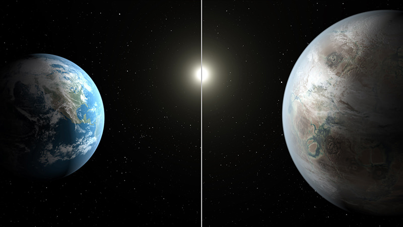 Astronomers hunting for another Earth have found what may be the closest match yet, a potentially rocky planet circling its star at the same distance as the Earth orbits the Sun, NASA said July 23, 2015. (AFP Photo)