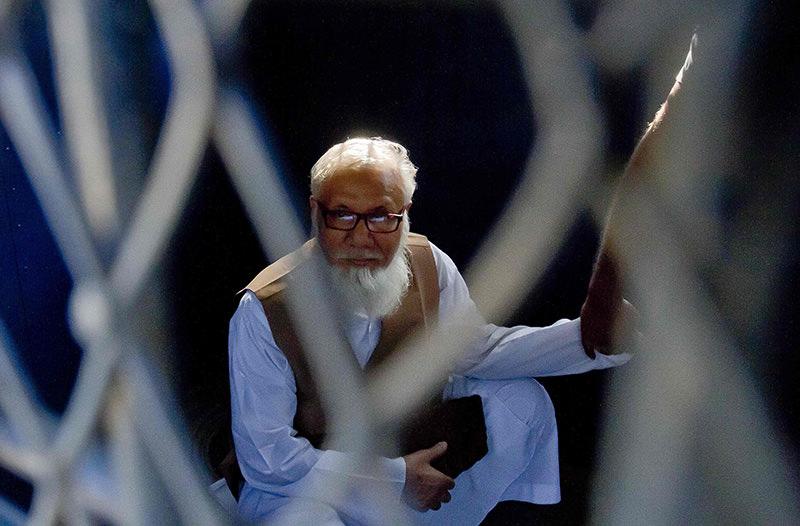 This file photograph taken on October 29, 2014, shows Bangladeshi Jamaat-e-Islami party leader Motiur Rahman Nizami (AFP Photo)