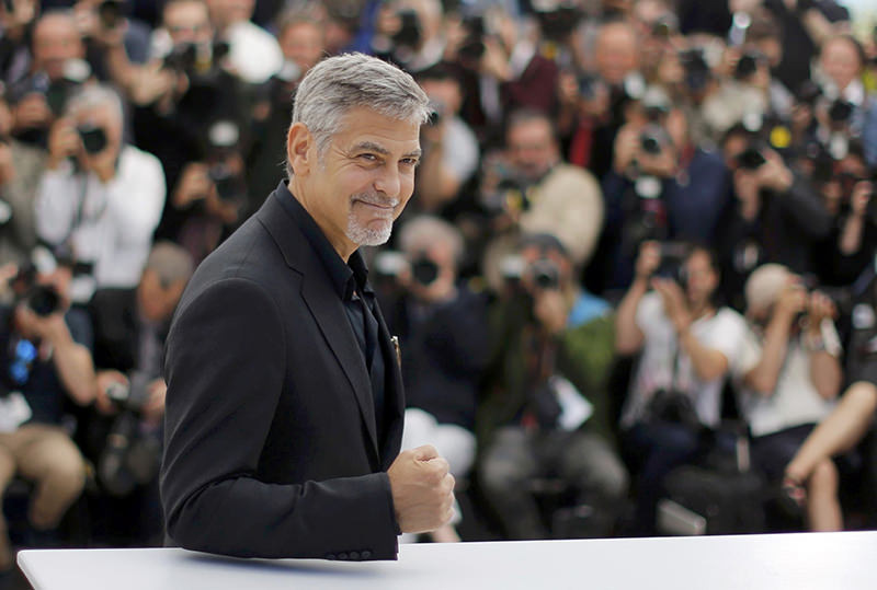 Cast member George Clooney poses during a photocall for the film ,Money Monster, out of competition at the 69th Cannes Film Festival in Cannes, France, May 12, 2016. (REUTERS Photo)