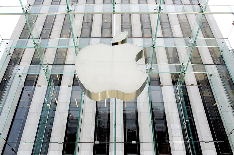Shares of Apple sank below $90 for the first time in nearly two years on May 12, 2016, ceding the title of the world's largest company by market valuation to Google. (AFP Photo)