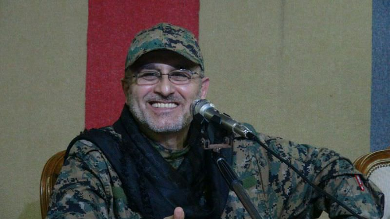 An undated handout photo released on May 13, 2016 by Hezbollah's media office shows Mustafa Badreddine smiling at an undisclosed location (AFP Photo)