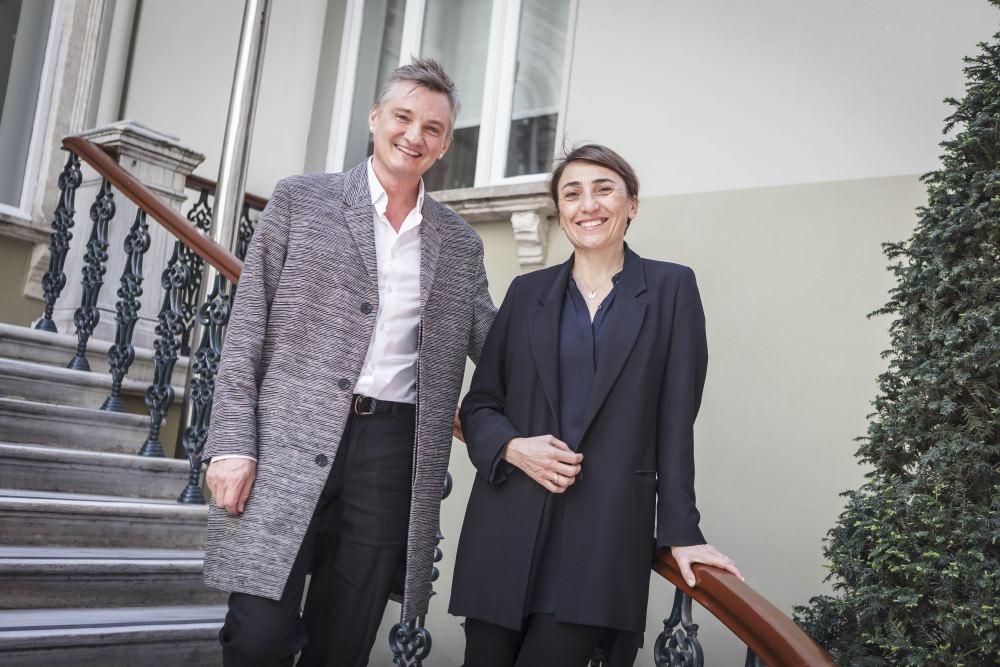 Raf Stesmans (L) and Seda Lafçı