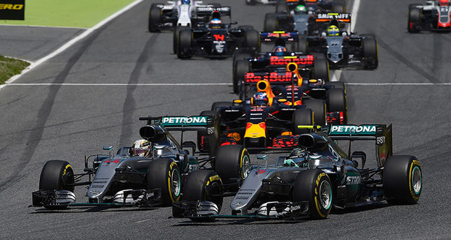 Image result for mercedes spanish gp