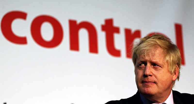 London Mayor Boris Johnson speaks during a 'Vote Leave' campaign event in Manchester, Britain, 15 April 2016. (EPA Photo)