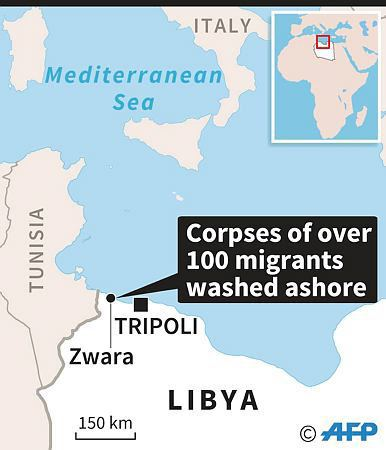 Bodies of 132 migrants trying to reach Europe have been found on western Libyan beaches over the past four days.