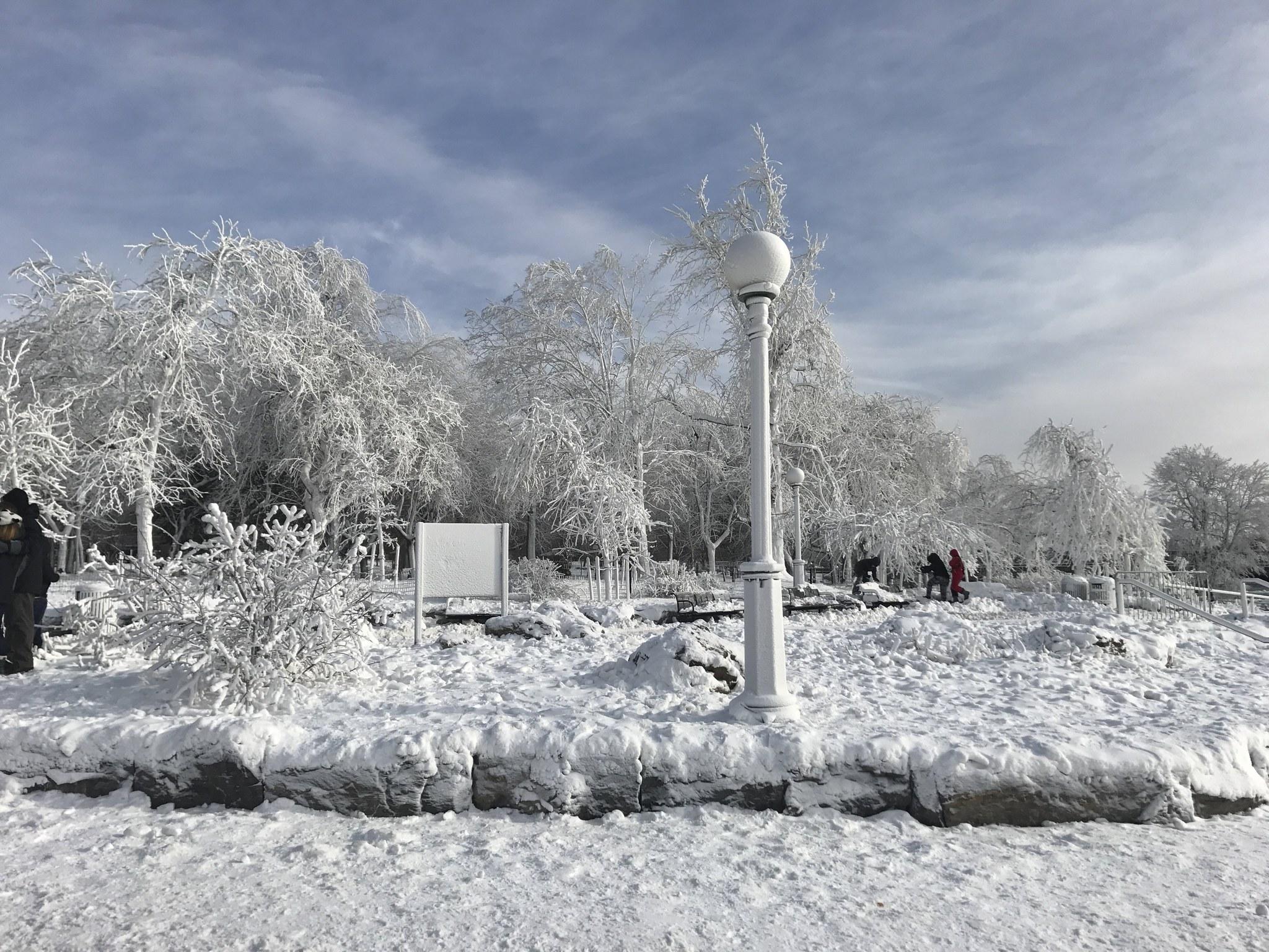 A Frozen Niagara Falls Is Seen In Views From Stedman S Bluff