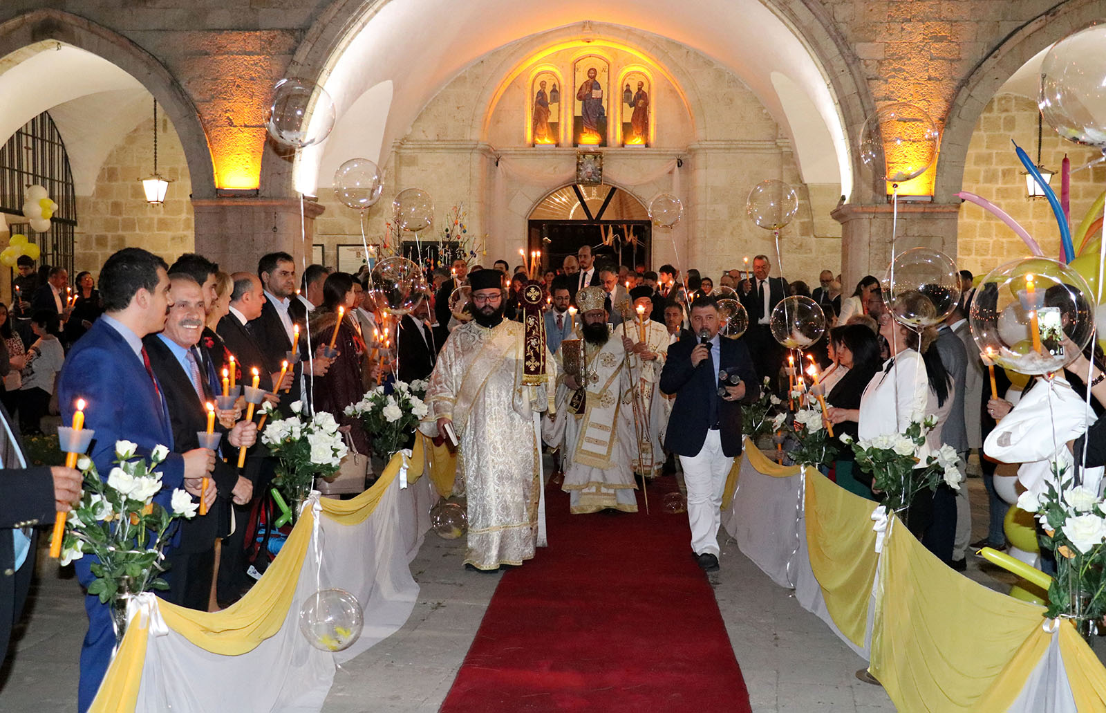 Orthodox Christians in Turkey's Hatay province attend Easter celebrations (AA Photo)