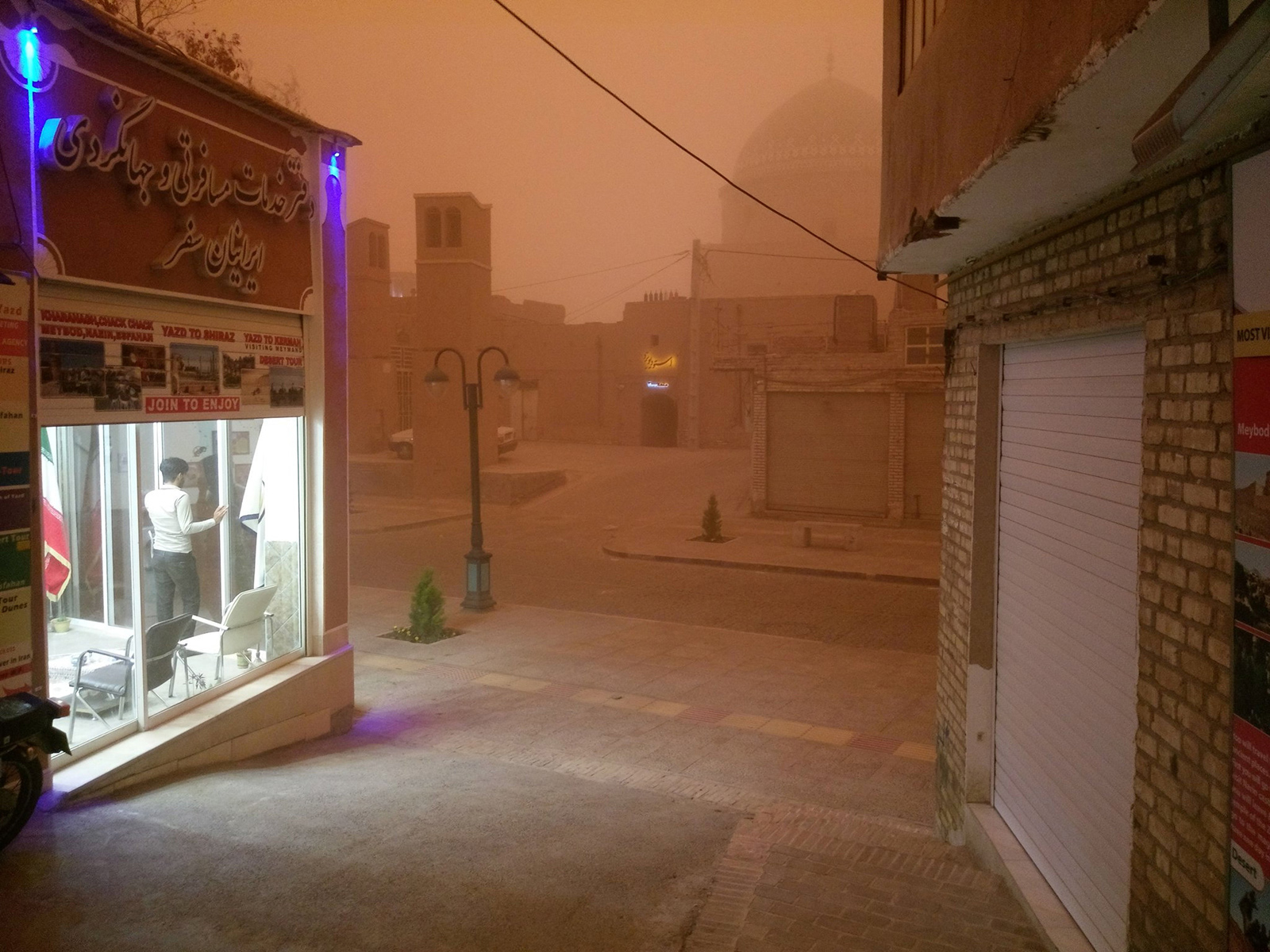 Day turns into night as sandstorm sweeps through Iran's Yazd