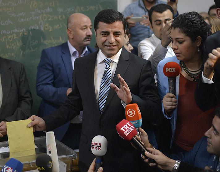رئيس حزب الشعوب الديمقراطي، صلاح الدين ديميرطاش.