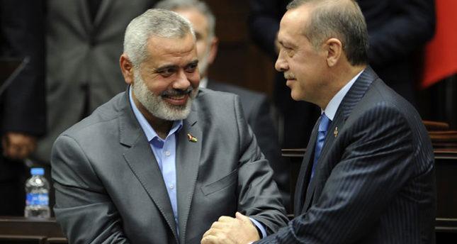 هنية يهاتف أردوغان ويهنئه بفوز العدالة والتنمية