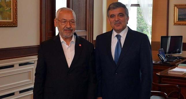 الرئيس التركي السابق عبدالله غُل يستقبل راشد الغنوشي