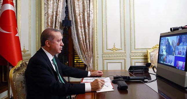 أردوغان يبحث قضايا التغير المناخي مع الأمين العام للأمم المتحدة وعدد من قادة العالم