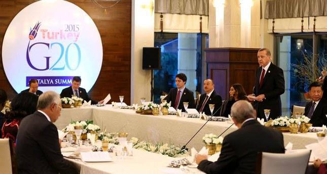 انطلاق فعاليات قمة العشرين في مدينة أنطاليا التركية