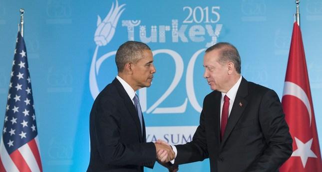 أردوغان وأوباما يجددان العزم على مكافحة الارهاب العالمي وحل الأزمة السورية