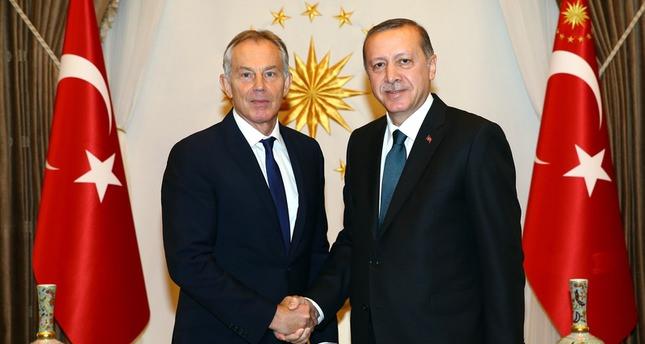 أردوغان يستقبل رئيس الوزراء البريطاني الأسبق توني بلير بأنقرة