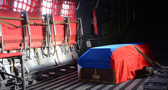 تركيا ترسل جثمان الطيار الروسي الى موسكو بناء على طلبها