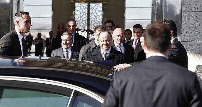 بارازاني في أنقرة للقاء أردوغان وداوود أوغلو