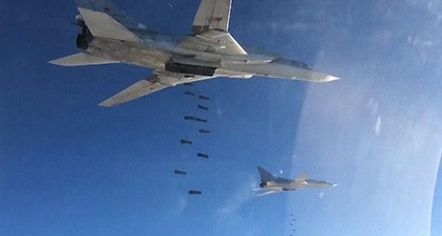 المقاتلات الروسية تقصف مواقع في سوريا (رويترز)