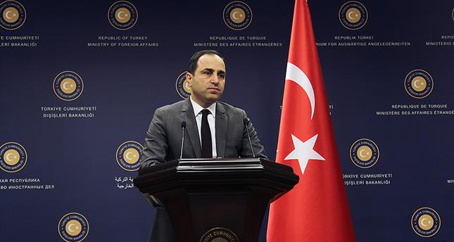 المتحدث باسم الخارجية التركية تانجو بيلغيتش  (وكالة الأناضول للأنباء)