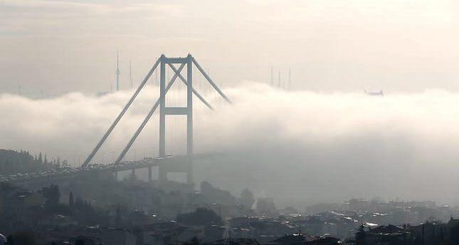 الضباب في اسطنبول يعطل حركة المواصلات البحرية في البسفور