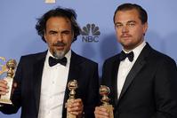 ليوناردو دي كابريو برفقة المخرج الميكسيكي إليخاندرو غونزالز إيناريتو   (رويترز)