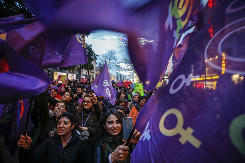 Stronger together: Turkish women march in Taksim to mark International Women's Day