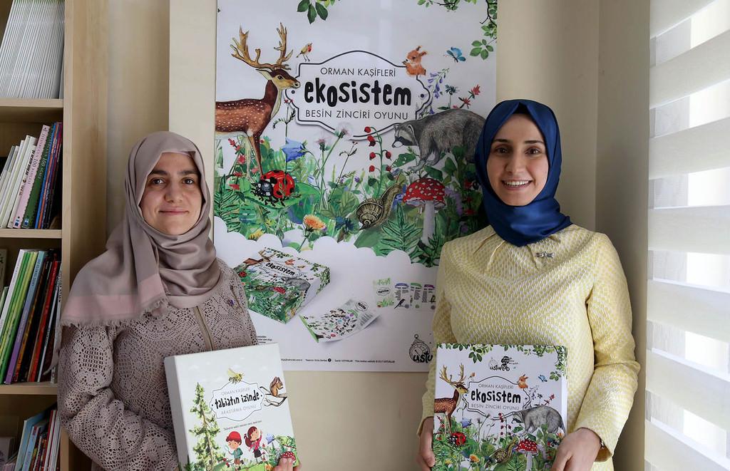 Zeynep Handan Aydou011fan (left) and Su00fcmeyye Ceylan (right)