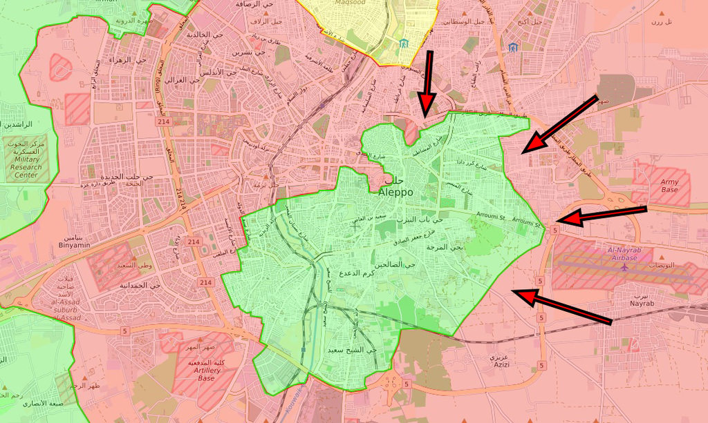 On Dec. 1, regime forces launched a new attack to capture the parts of Aleppo's old city controlled by the opposition.