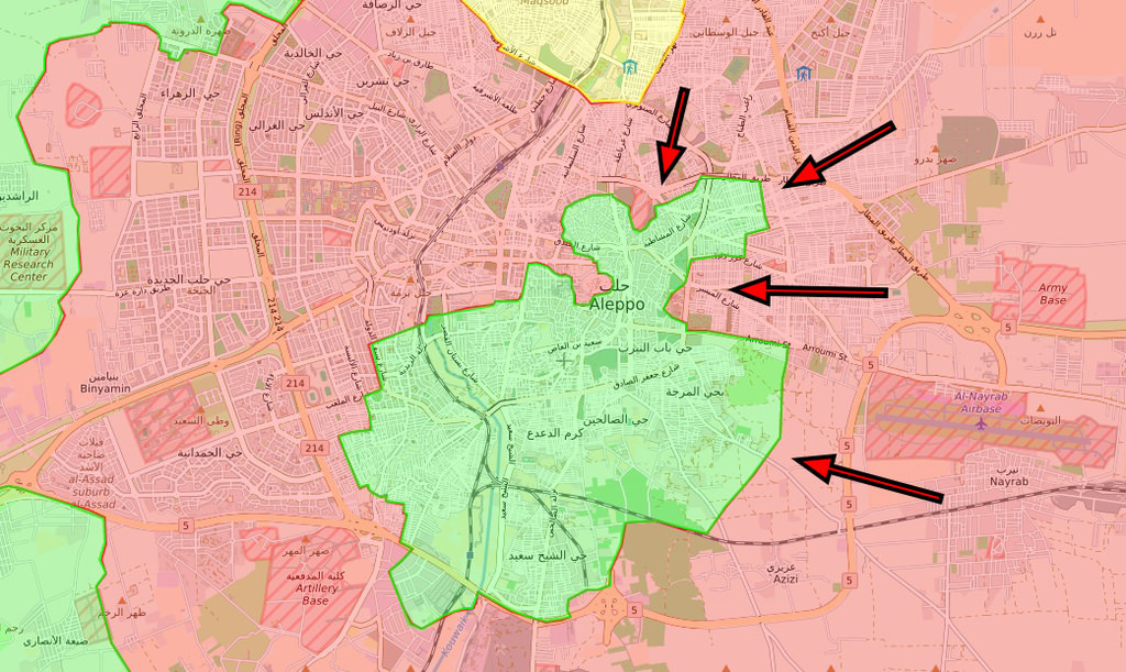 By Dec. 4, regime forces managed to advance in northeastern axis, capturing Karm al-Myassar, Karm al-Qatirji and Karm al-Tahan districts from opposition fighters.
