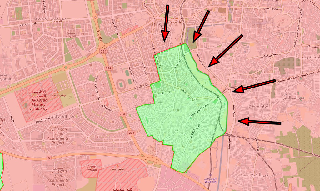 Regime forces captured Bustan al-Qasr and al-Kallasah districts east of Kouwalk River, effectively controlling over 90 percent of Aleppo and leaving some 150,000 people trapped under bombardment.
