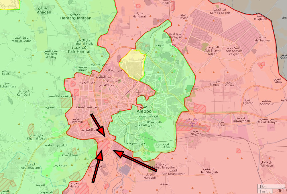 This route failed to function properly amid regime's air and artillery strikes, and the regime launched a new attack in early September, laying siege on east Aleppo once again.