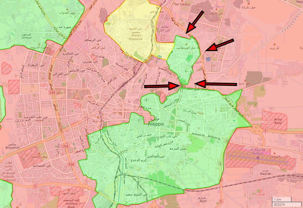 Opposition fighters suffered huge setbacks against regime forces on Nov. 27, retreating in most parts of northeastern Aleppo. Regime forces managed to cut off and isolate several neighborhoods.