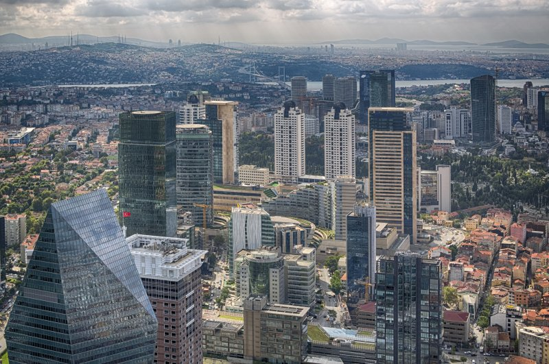 An aerial view of the Levent business district in Istanbul. (iStock Photo)