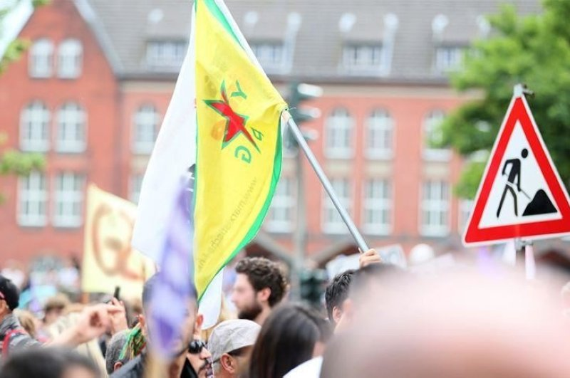 Sympathizers of the PKK/YPG terrorist group hold a demonstration in the U.K. (AA File Photo)