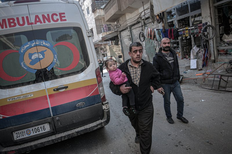 The Assad regime and its backers have conducted airstrikes on civilian settlements and medical facilities in Syria's Idlib province, Feb. 25, 2020. (AA Photo)
